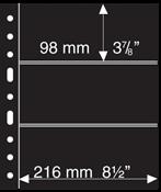 Pochettes plastiques GRANDE, 3 Bandes horizontales, noires, de Leuchtturm