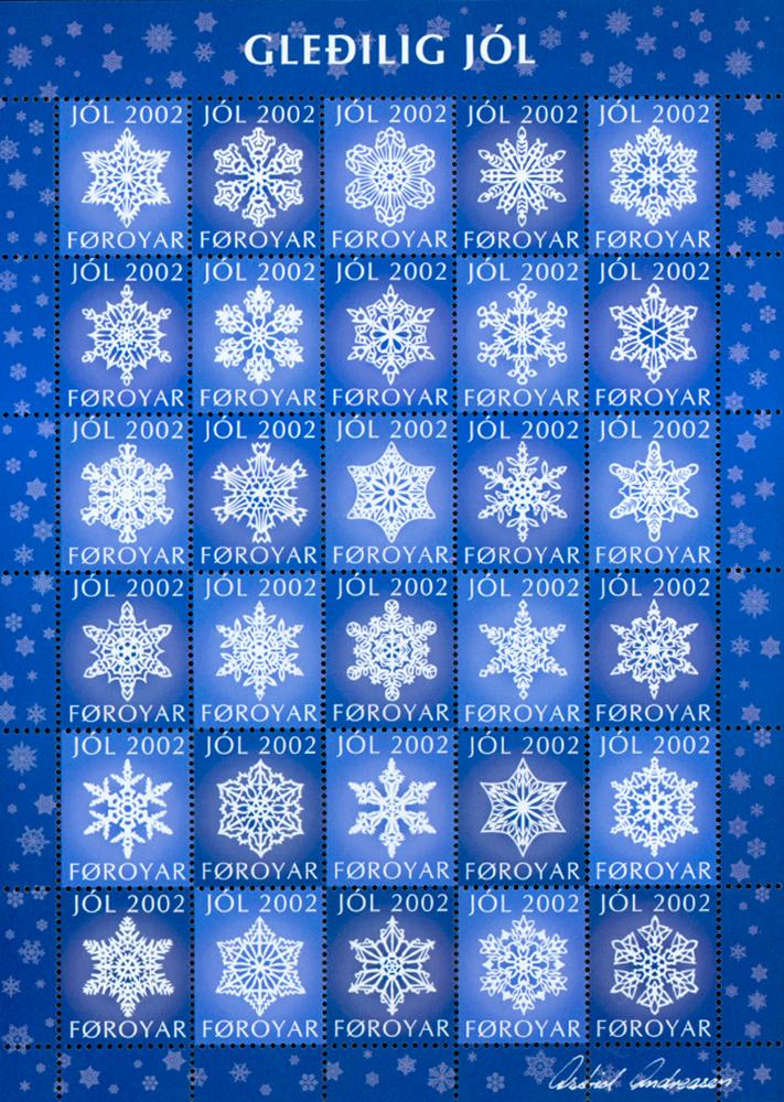 Færøerne Julemærkeark 2002