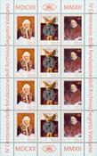 Vatican - Foundation of the secret archives - Mint sheetlet