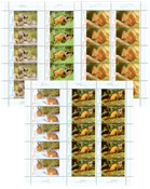 Tyskland - Skovens dyr - Postfrisk sæt 10-ark
