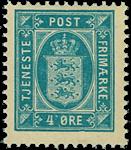 Danmark 1896-02 - AFA nr.5B - Tjenestemærke - Postfrisk