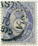 Norway 1872-75 - AFA no. 17 - cancelled