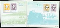 Azoren - Madeira 2 eerste souvenir velletjes postfris