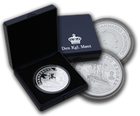 The Royal Yacht 500 kr coin in real silver