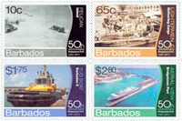Barbados - 50 years Bridgetown Harbour - Mint set 4v