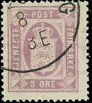 Danmark 1875 - AFA nr.4 - Stemplet