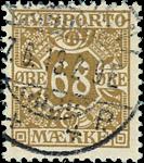 Danmark 1907 - AFA nr.7 - Stemplet