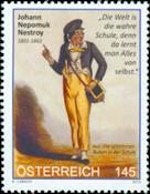Østrig - Johann Nestroy - Postfrisk frimærke