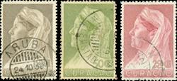 Curacao - Koningin Wilhemina met sluier 1936 (nr. 135-137, gebruikt)