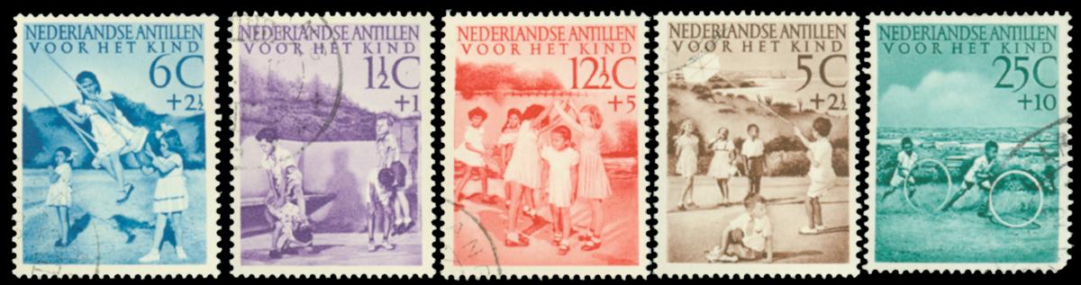 Curacao - Kinderzegels 1951 (234-238, gebruikt)