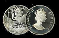 St Helena - Hjejlen WWF - Flot sølvmønt proof kvalitet med tekstkort og ægthedsbevis