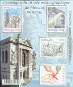 Monaco - Oceanografisk museum - Postfrisk miniark