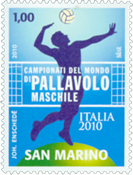 San Marino - Volleyball World Cup 2010 - Mint stamp