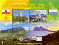 San Marino - Fællesudgave - Postfrisk miniark