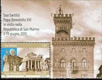 San Marino - Pavebesøg - Postfrisk frimærke