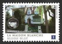 Belgien -Det hvide hus - Postfrisk frimærke