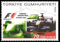 Tyrkiet - Formel 1 - Postfrisk frimærke