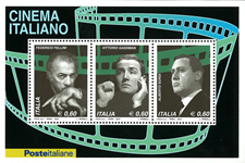 Italien - Italiensk filmkunst - Postfrisk miniark