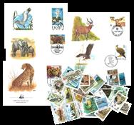 WWF 50 Frimærker - Fin pakke