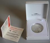 Frankrig - YSL sølvmønt i æske - 2000 Ø 37 mm, vægt 22,2 g