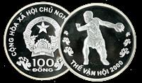 Finland Vietnam diskoskaster Sølvmønt