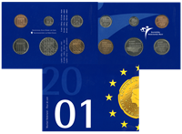 Hollannin kolikko-vuosilajitelma 2001