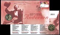 Møntbrev Belgien H.C. Andersen