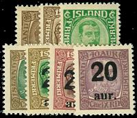 Island 1921-22 - AFA nr.104-10 - Postfrisk