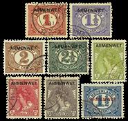 Nederland - Opdruk armenwet 1913 (nr. D1-D8, gebruikt)