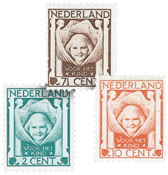 Netherlands 1924 - NVPH 141-143 - Unused