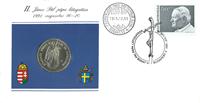 Hongarije - De paus in 1991 - Muntbrief