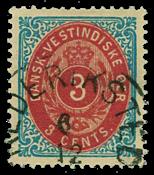 Danish West Indies 1873-74 - AFA no.6y - Cancelled