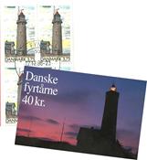 Denmark cancelled booklet Lighthouses