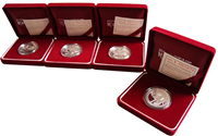 Korea VM 4 sølvmønter del 2.