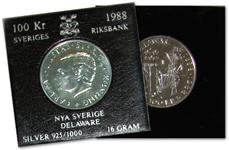 Sverige mønt Delaware l. hoved