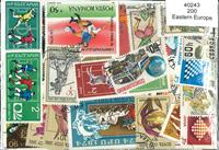 Eastern Europe 200 different stamps