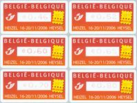 Belgien - Belgica - Postfrisk sæt frama 6v