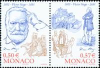 Monaco - Victor Hugo - Postfrisk sæt 2v