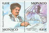 Monaco - Alexandre Dumas - Postfrisk sæt 2v