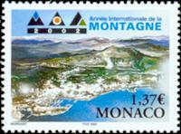 Monaco - Bjergets år - Postfrisk frimærke