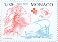Monaco - Røde Kors - Postfrisk frimærke