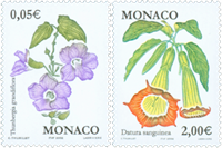 Monaco - Flowers - Mint set 2v