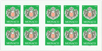 Monaco - Coat of arms - Mint booklet - green