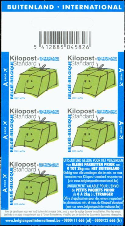 Belgien - Pakkepost Apost - Blå: Postfrisk hæfteblok