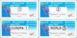 Belgien - Tivoli - Postfrisk sæt frama