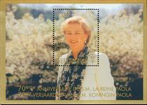 Belgien - Dronning Paola - Postfrisk miniark