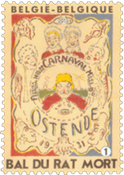 Belgien - Bal du rat Mort - Postfrisk frimærke