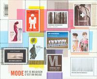 Belgium - Belgian fashion - Mint souvenir sheet