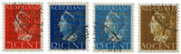 Netherlands 1940 - NVPH D16a-D19a - Cancelled