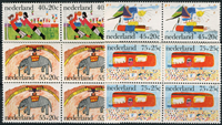 Netherlands 1976  - Children Stamps - Block of 4